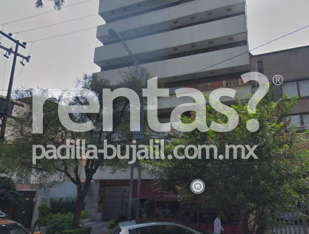 Renta de departamento en colonia Del Valle Centro amueblado o sin amueblar
